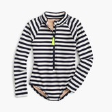 J.Crew Girls' one-piece rashguard in stripe
