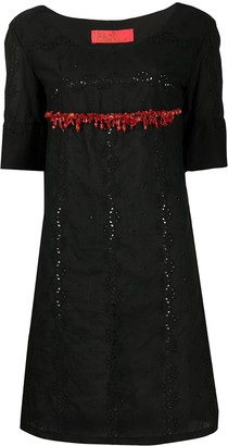 A.N.G.E.L.O. Vintage Cult 1990s Beaded Detail Embroidered Dress
