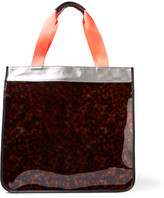 Monreal London Hero Leather-trimmed Pvc And Coated Canvas Tote - Tortoiseshell