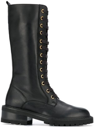 Paul Warmer Lace-Up Low-Heel Boots