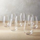 CB2 Set Of 8 True Stemless Wine Glasses
