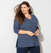 Avenue Shaker Stitch Pullover Sweater