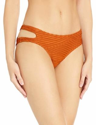 Bikini Lab Women's Cut Out Hipster Bikini Swimsuit Bottom
