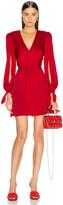 HANEY Joplin V Neck Dress in Red | FWRD