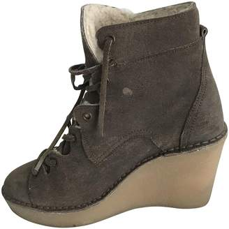 Pierre Hardy Beige Suede Ankle boots