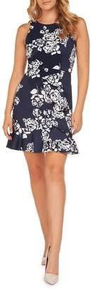 Dex Floral-Print Ruffle Hem Dress