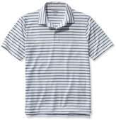 L.L. Bean L.L.Bean Stretch Polo Shirt, Slightly Fitted Short-Sleeve Stripe