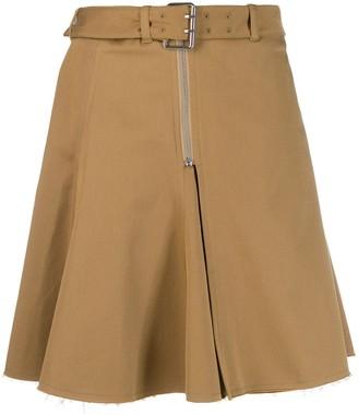 ALEXACHUNG Buckled Waist Skirt