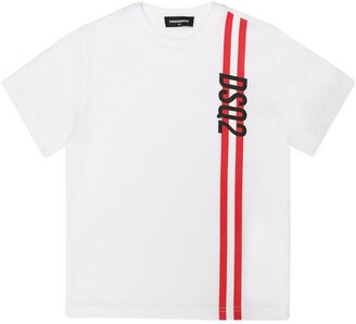 DSQUARED2 Side-Stripe Logo T-Shirt (4-16 Years)