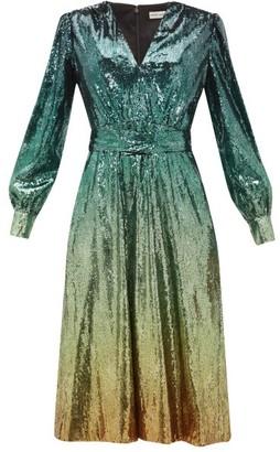Mary Katrantzou Theresa Degrade Sequinned Dress - Womens - Green Multi