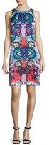 Nanette Lepore Sleeveless Floral-Print Sheath Dress, Red/Multi