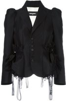 DSQUARED2 lace trim smocking jacket - women - Silk/Polyamide/Polyester/Wool - 40