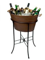 Artland Oasis Oval Party Tub with Stand in Antique Copper