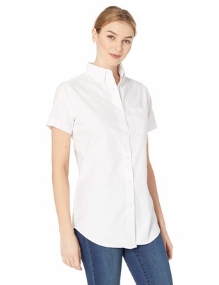 RETOV Women's Classic Wrinkle-Free Short-Sleeve Oxford