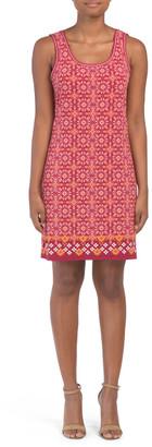 Sleeveless Clover Jersey Dress