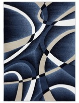 Persian Rugs Tobis Abstract Navy Indoor/Outdoor Area Rug Persian-rugs Rug Size: Rectangle 5' x 7'
