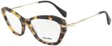 Miu Miu Tortoiseshell & Goldtone Cat-Eye Eyeglasses