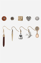 Topshop 'Heart/Bird/Spike' Stud & French Wire Earrings (Set of 10)