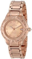 """Invicta Women's 14803 """"Angel"""" 18k Rose Gold Ion-Plated Stainless Steel and Diamond Bracelet Watch"""