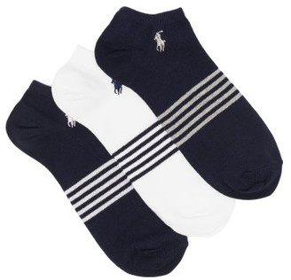 Polo Ralph Lauren Pack Of Three Logo-embroidered Socks - White Multi