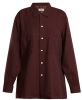 Chimala Hound's-tooth checked wool-blend shirt
