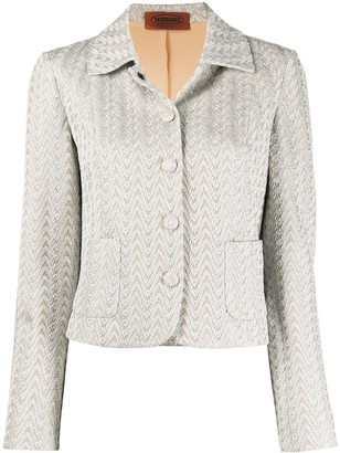 Missoni Pre Owned Lace Embroidery Single-Breasted Jacket