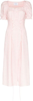 Sleeper Gingham Midi Dress