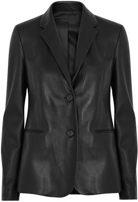 Helmut Lang Black leather blazer