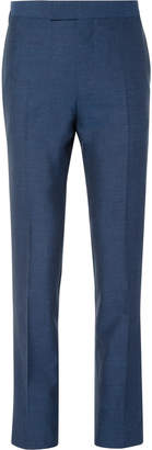 Kingsman Eggsy's Blue Wool, Silk, Mohair And Linen-Blend Suit Trousers