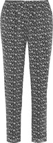 Joie Eurie printed silk-organza straight-leg pants