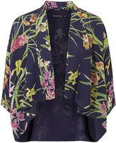 Karen Millen Orchid-print Kimono - Purple/multi