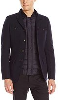 Scotch & Soda Men's Military Blazer with Built In Vest
