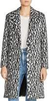 Maje Garouny Leopard-Print Coat