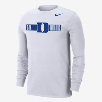 Nike Men's Long-Sleeve T-Shirt College Dri-FIT (Duke)