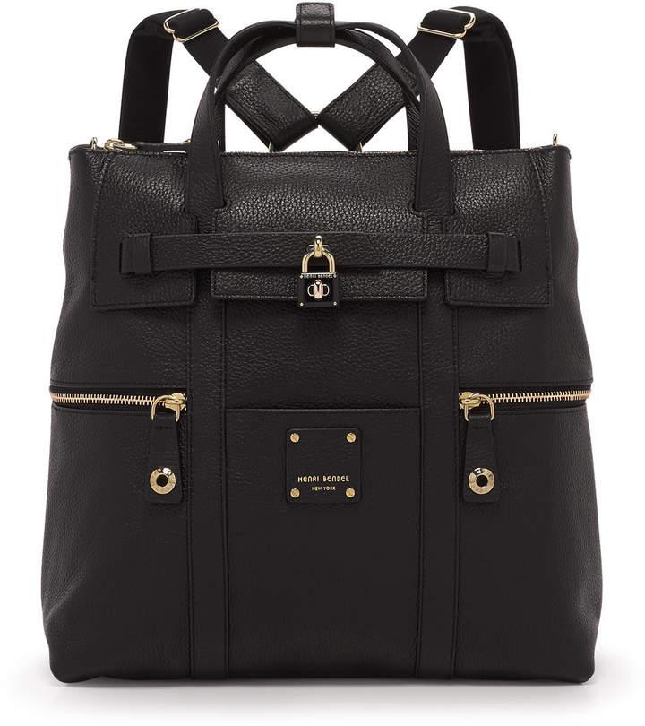 Henri Bendel Jetsetter Convertible Leather Backpack