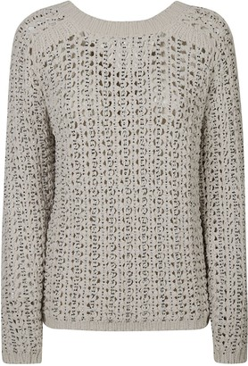 Ermanno Scervino V-neck Knitted Sweatshirt