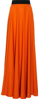 Milly Pleated Silk-Satin Maxi Skirt