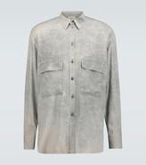 Rochas Quartilla long-sleeved silk shirt