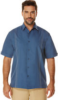 Cubavera Big & Tall Short Sleeve Ombre Embroidered Shirt