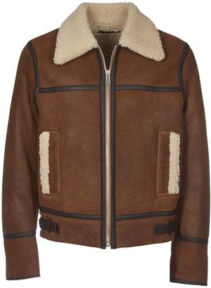 Paul Smith Sheepskin Jacket With Straps