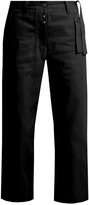 MM6 MAISON MARGIELA Waist-tie wide-leg cropped jeans