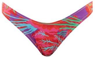 Reina Olga Selvaggia Printed Bikini Briefs - Pink Print