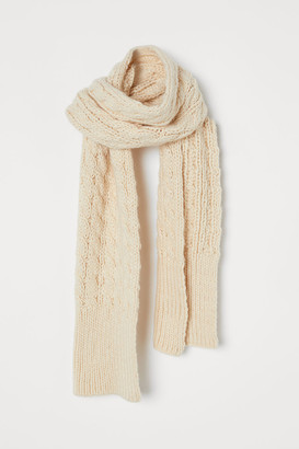 H&M Cable-knit scarf