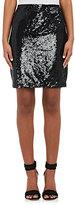 L'Agence Women's Phoebe Sequined Chiffon Miniskirt-BLACK