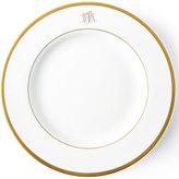 Pickard Ultra-White Script Monogram Dessert Plate