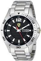 Ferrari Men's 0830094 Scuderia Analog Display Quartz Silver Watch