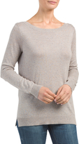 Juniors Open Scoop Back Sweater