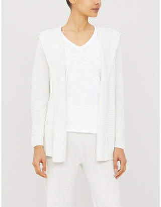 The White Company Hooded knitted cardigan