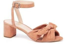 Loeffler Randall Jill Knotted Suede Ankle-Strap Sandals