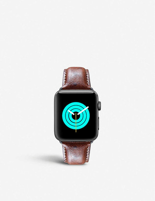 Mintapple Apple Watch ostrich-embossed leather strap 38mm/40mm